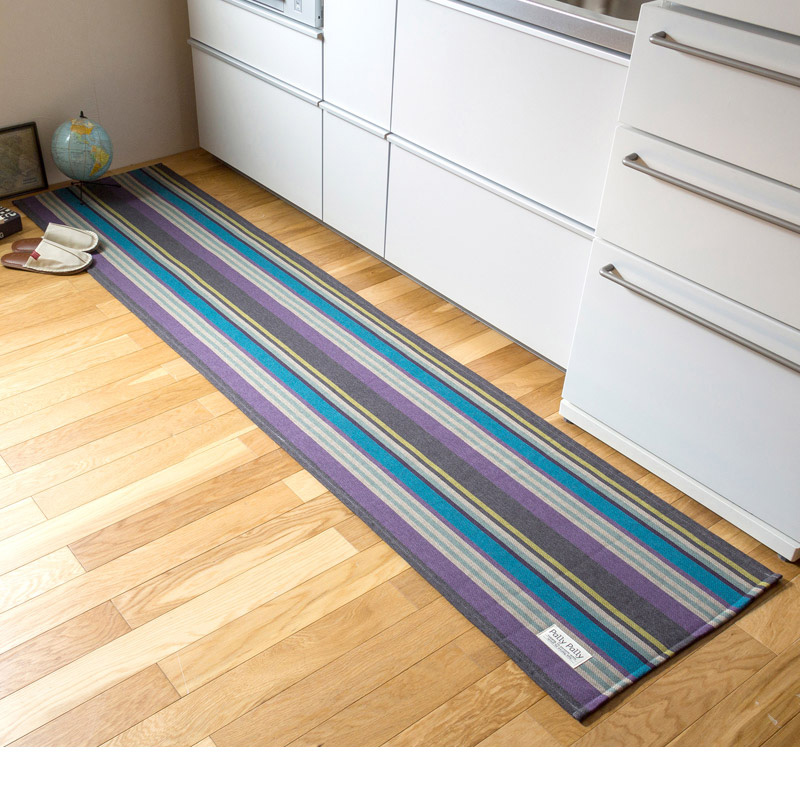 キッチンマット/PallyPally(約56x250) ネイビーの商品画像