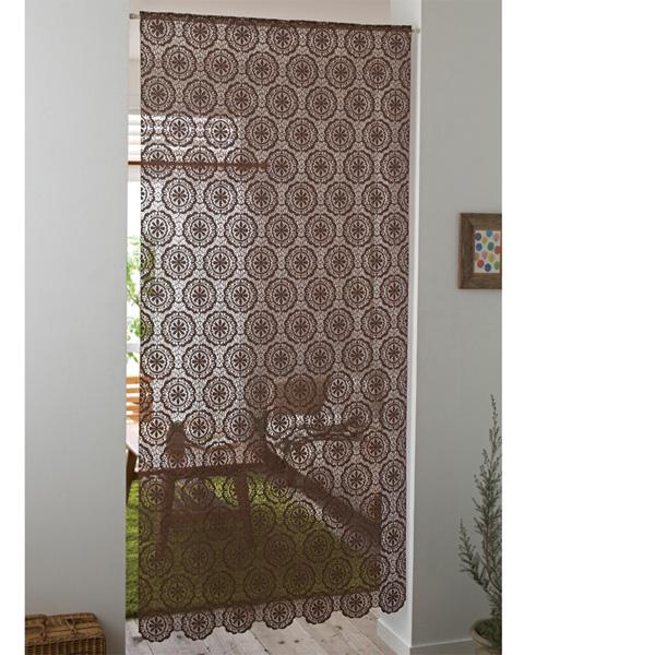 北欧調クロッシェレースパネルカーテン(200) ブラウン 200丈の商品画像