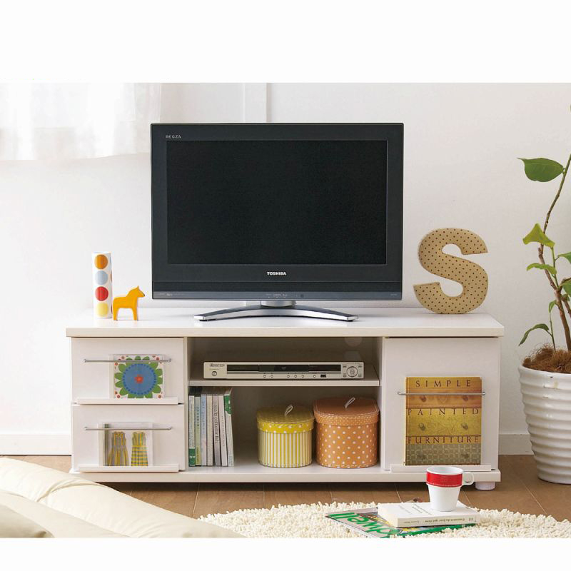 テレビ台(幅111cm) Aホワイトの写真