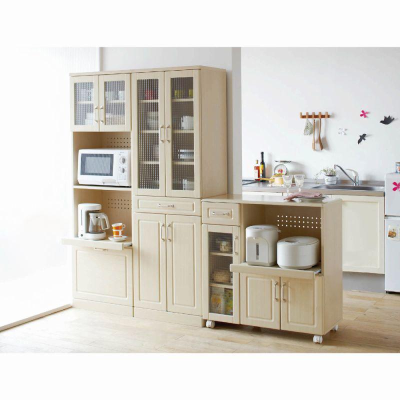 ナチュラル食器棚(Bキッチンカウンター88) Bの商品画像
