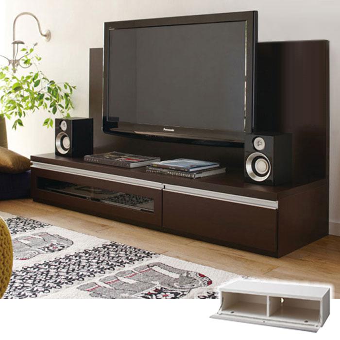 ロータイプ大型テレビ台(A1・テレビ台・幅100cm)※パネルは別売り Aホワイトの小イメージ