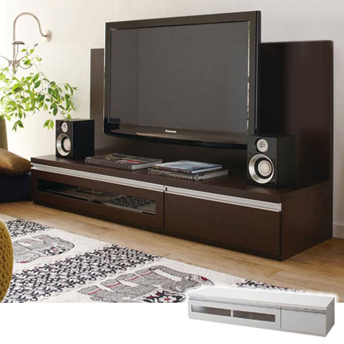 ロータイプ大型テレビ台(A2・テレビ台・幅140cm)※パネルは別売り Aホワイト 2の商品画像