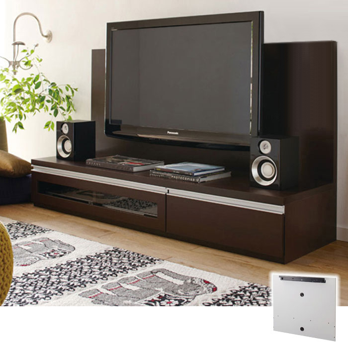 ロータイプ大型テレビ台パネル(B1・パネル・幅100cm) Bダークブラウンの写真