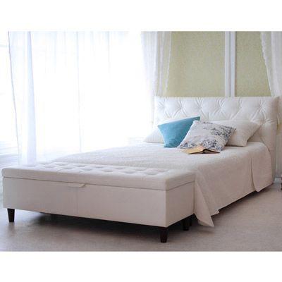 寄りかかれるデザインベッド(A本体のみ・ダブル) Aホワイトの小イメージ