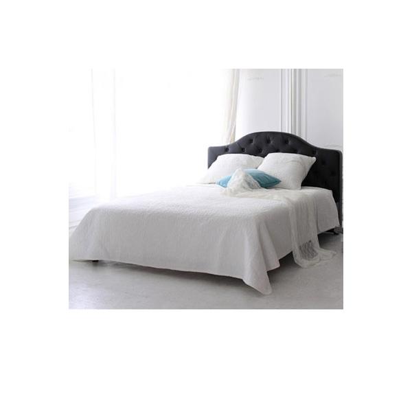 ラグジュアリーデザインベッド(A本体のみ・セミダブル) Aホワイトの写真