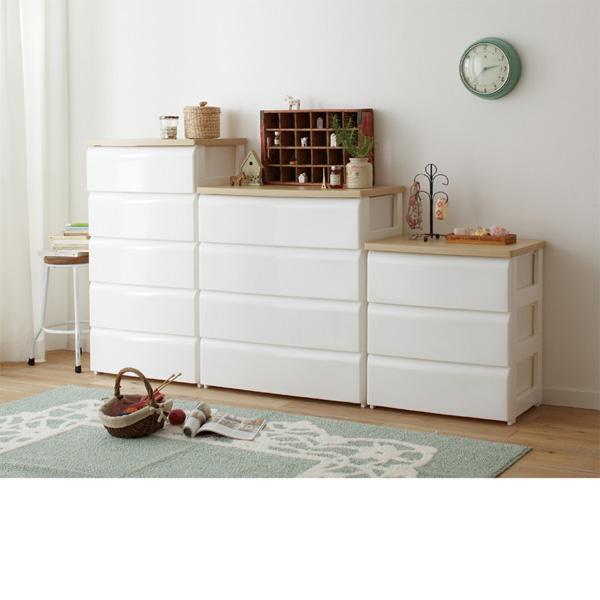 チェスト(A・幅56.5cm・3段) ホワイトの商品画像