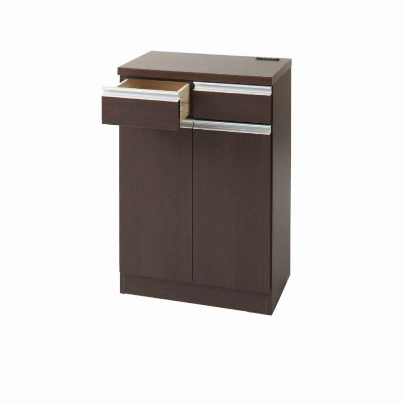 引き戸食器棚(F・カウンター・幅60cm) ナチュラルの小イメージ