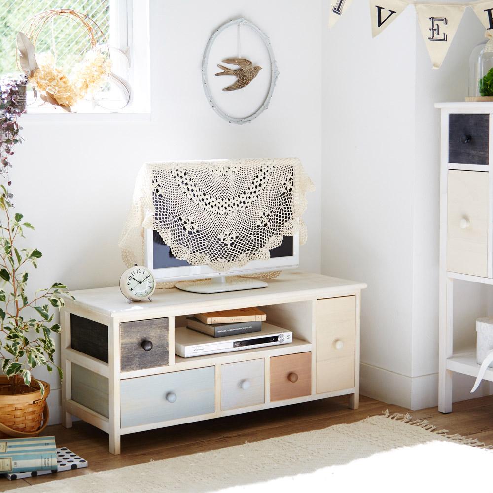 マルチカラーシリーズ家具(テレビ台小・幅84cm)の写真