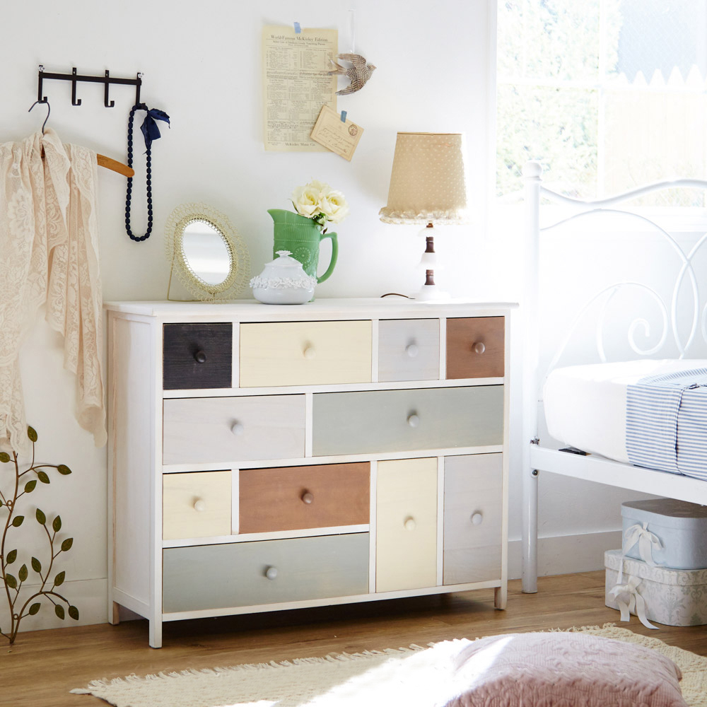 マルチカラーシリーズ家具(チェスト・幅91cm・奥行き30cm・高さ70cm) チェストDの商品画像