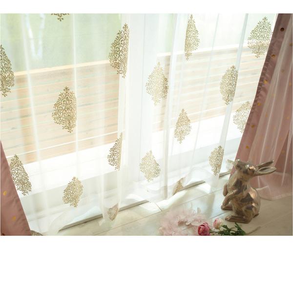 レースカーテン(200x223・1枚) ピンクの商品画像
