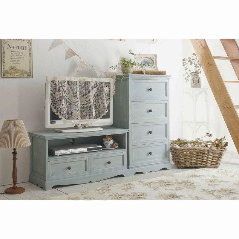 シリーズ家具(テレビ台小) ブルーの写真