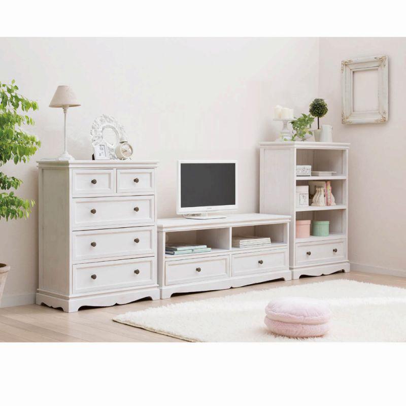 シリーズ家具(オープンラック) ホワイトW