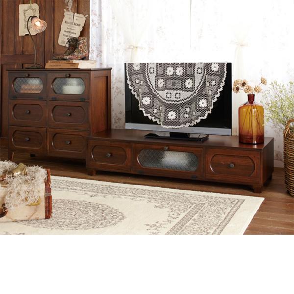 ノスタルジック家具シリーズ(チェスト大) ブラウン Eチェスト大の写真