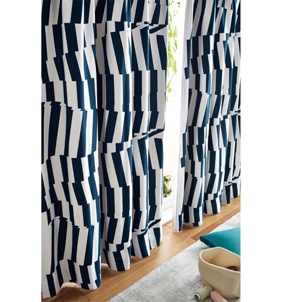 北欧調遮光カーテン(100x135・1枚) Dブルーグリーンの商品画像