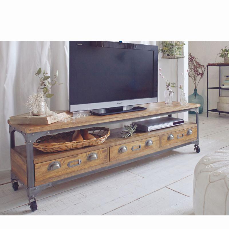 ビンテージ風テレビ台(B・幅152cm)の写真