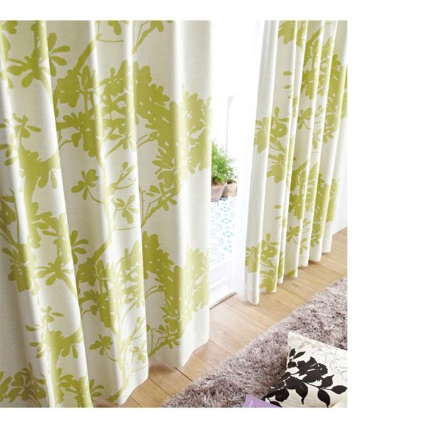 北欧調1級遮光カーテン(100x200・1枚) グリーンの写真