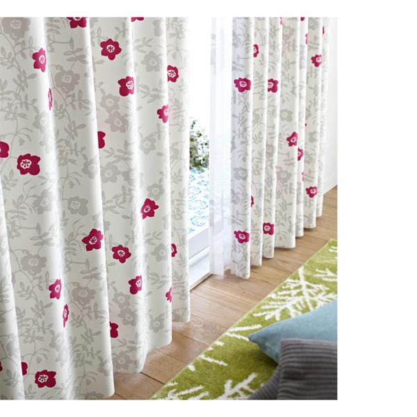 北欧調遮光カーテン(100x200・1枚) ピンクの商品画像