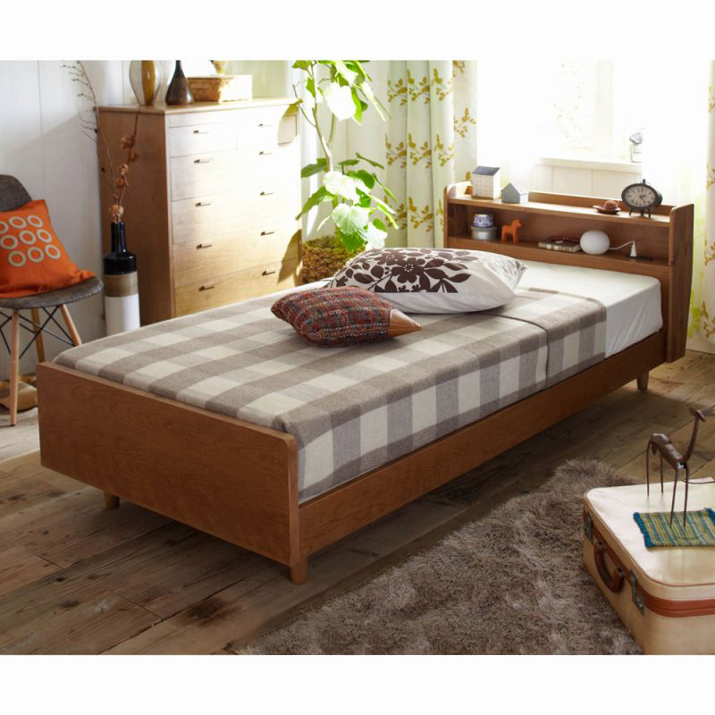 北欧調デザインベッド(本体のみ)の写真