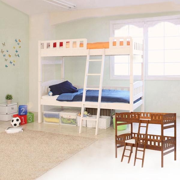 二段ベッドハイタイプ/オルタ(シングル・本体のみ) ブラウンの写真