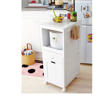 炊飯器ワゴン(Bワイド) ナチュラル B(ワイド)の写真
