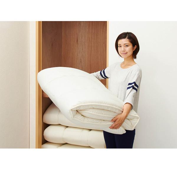 軽量敷き布団(セミダブル) アイボリーの商品画像