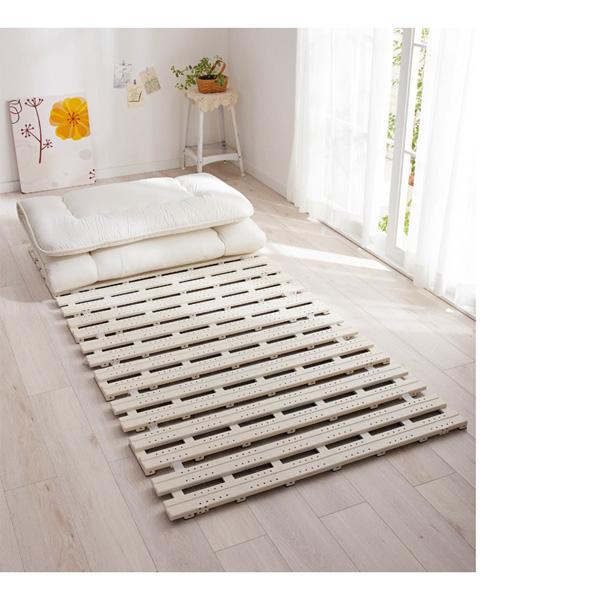 樹脂素材すのこベッドマット アイボリー シングルの写真