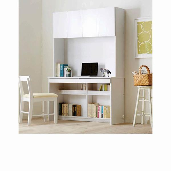 選べる壁面収納デスク(G板扉ラック付きデスク90cm) ブラウン G(板扉90)の商品画像