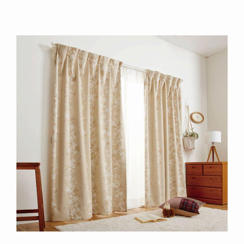 1級遮光4枚組カーテン(100x185・4枚組) グリーンの写真