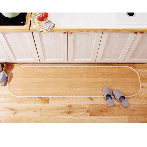 フローリング調キッチンマット(60x150) ダークブラウンの商品画像
