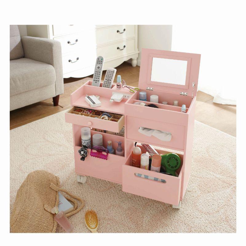 コスメ&アクセサリーワゴン ピンクの商品画像
