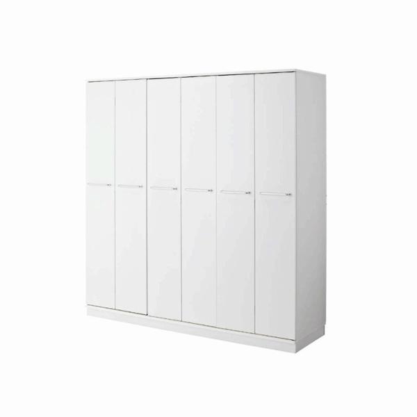 折れ戸クローゼットハンガー(幅180cm・本体のみ) ホワイト A4の写真