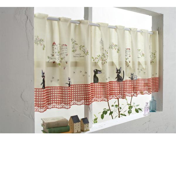 魔女の宅急便カフェカーテン お花がいっぱいの商品画像