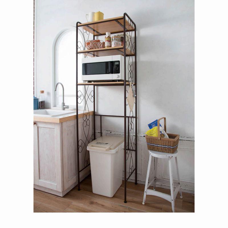 冷蔵庫ラック ホワイトの商品画像