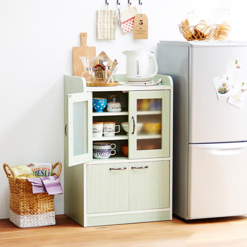 ミニ食器棚(B・ミニ食器棚) ホワイト Bの写真