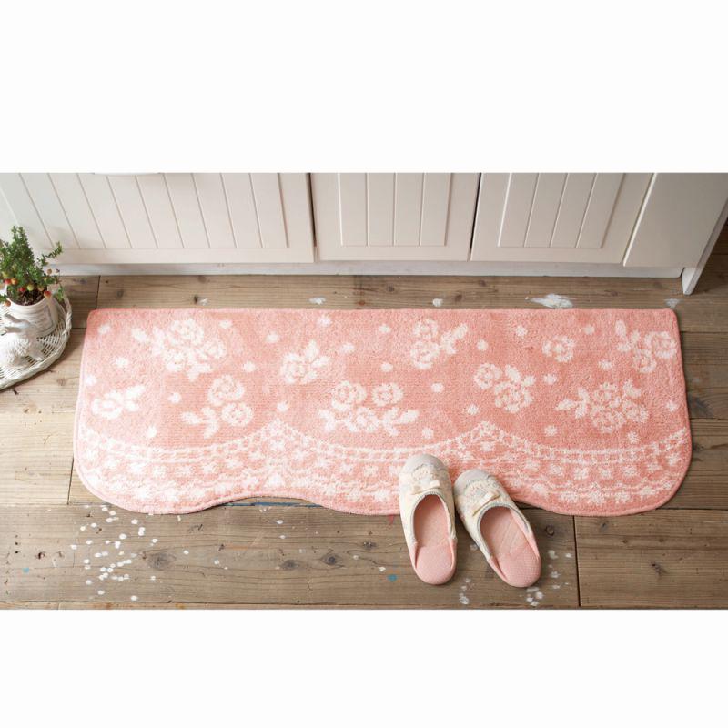 キッチンマット(45x150) ピンクの商品画像