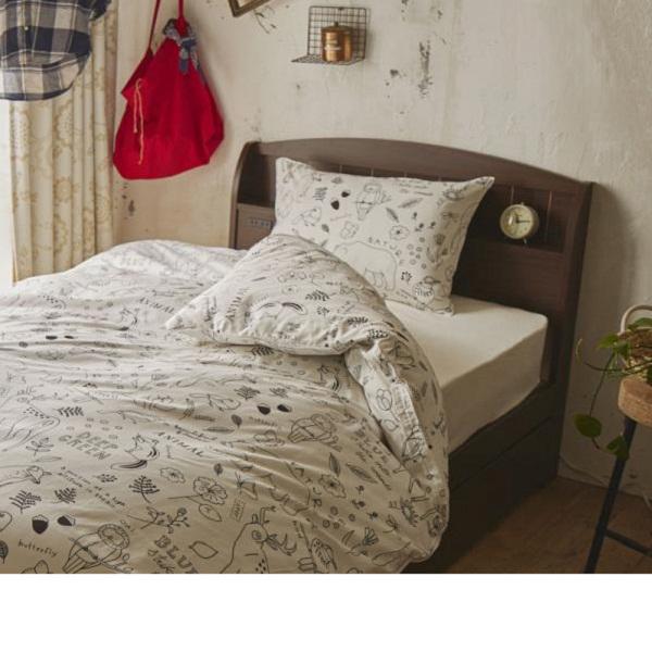大量収納ベッド ポケットコイルマットレス付(ブラウン・ショートセミシングル)の写真