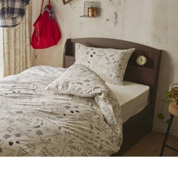 大量収納ベッド ポケットコイルマットレス付(ブラウン・シングル)の写真