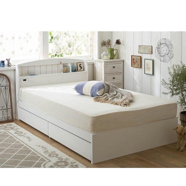 大量収納ベッド(セミダブル・本体のみ) ナチュラルの商品画像