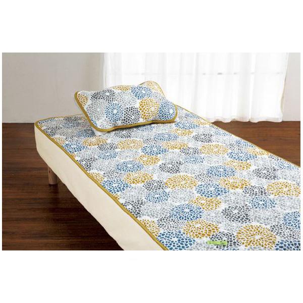 幾何学柄枕パッド(枕カバー・40x60) ブルーの商品画像