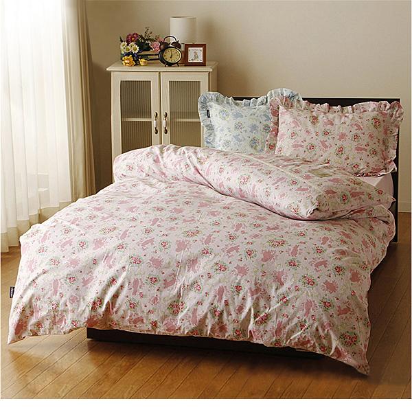 掛け布団カバー(ピーターラビット・ヒルトップ・ダブルロング) ピンクの小イメージ