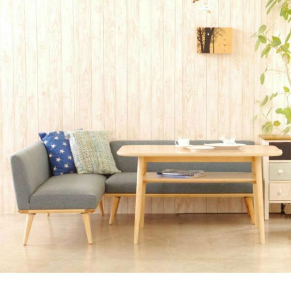 北欧調ダイニングテーブルセット ブラウン Lセットの商品画像