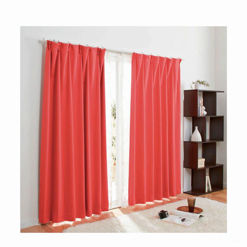 1級遮光カーテン(100x200・2枚組) レッドの商品画像