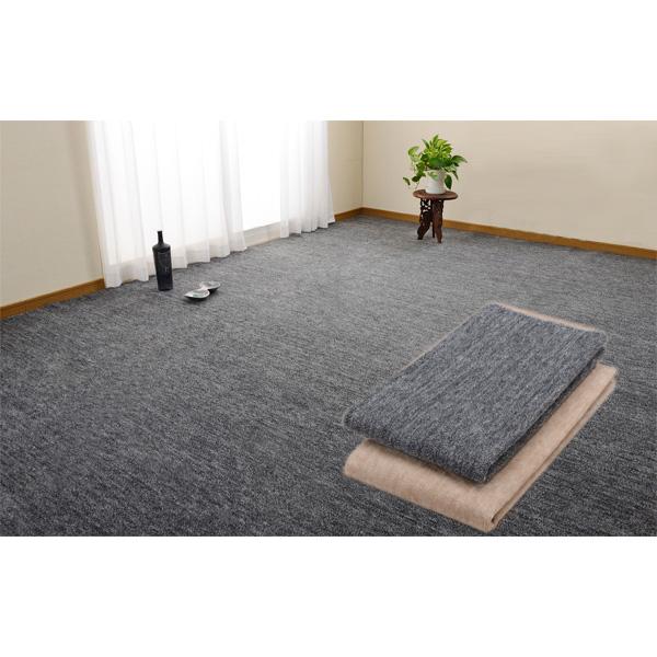日本製抗菌カーペット(江戸間10畳用) ブラックの商品画像
