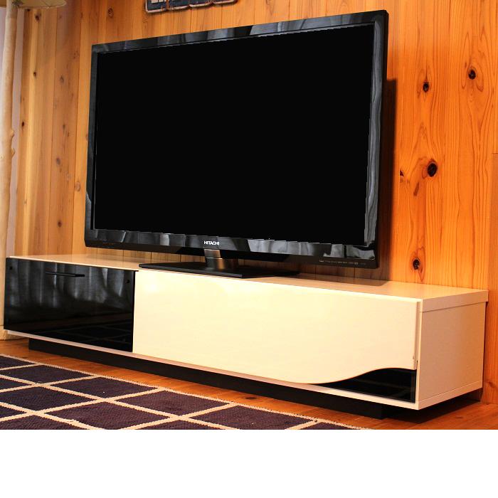 日本製 大型テレビ台 完成品 (幅150cm) ブラウンの小イメージ