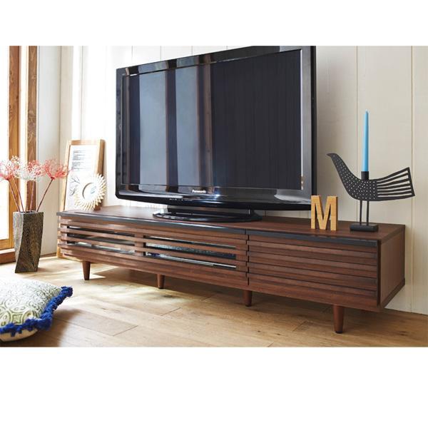 ルーバーデザインのテレビ台 日本製 完成品 (幅150cm)の商品画像