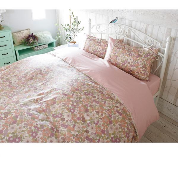 花柄布団カバー3点セット(ダブル) アイボリーの商品画像