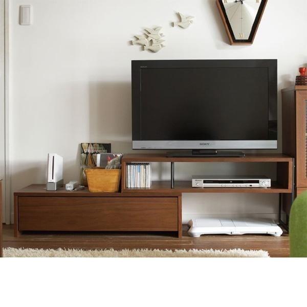 アンセム 伸縮テレビ台 天然木 コーナー ナチュラルの商品画像