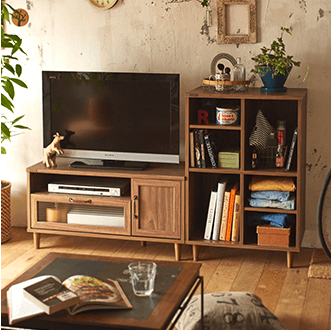 Aテレビ台+Dディスプレイラック