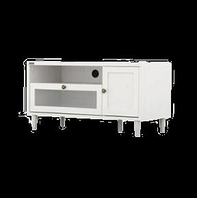 波ガラスを使用したデザインテレビ台(幅90cm)