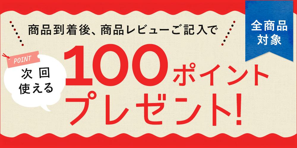 レビューキャンペーン開催中!レビュー投稿で100ポイントプレゼント♪